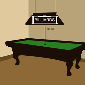 Billiard Table Pendant Placement Lights