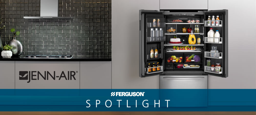 Jenn Air 72 Counter Depth French Door Refrigerator With Obsidian